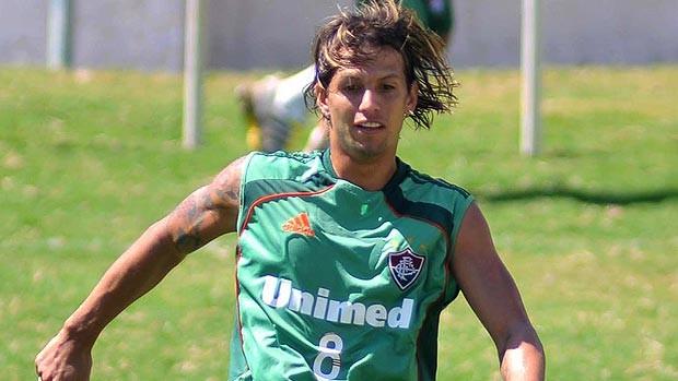 Diguinho no treino do Fluminense (Foto: Agência Photocâmera)