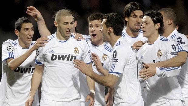 Comemoração do gol do Real Madrid (Foto: EFE)
