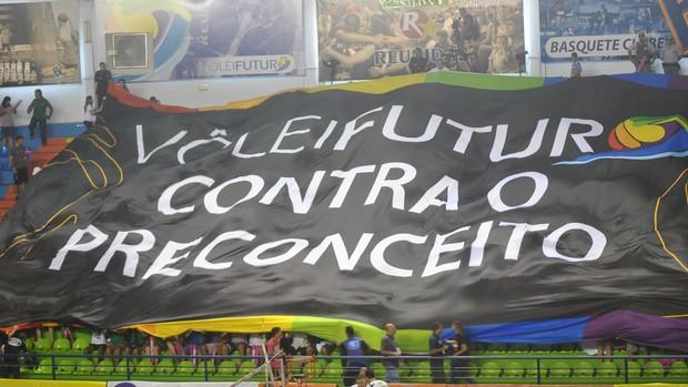 Bandeira Vôlei Futuro Michael (Foto: João Gabriel Rodrigues /  GLOBOESPORTE.COM)