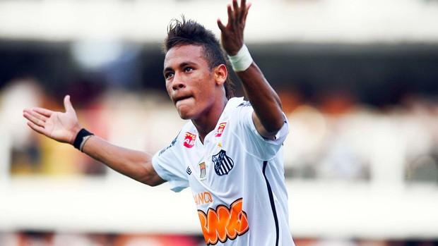 Neymar Santos x Ponte Preta (Foto: Marcos Ribolli / Globoesporte.com)