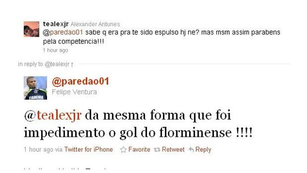Felipe, do Flamengo, ironiza o Fluminense no Twitter (Foto: Reprodução)