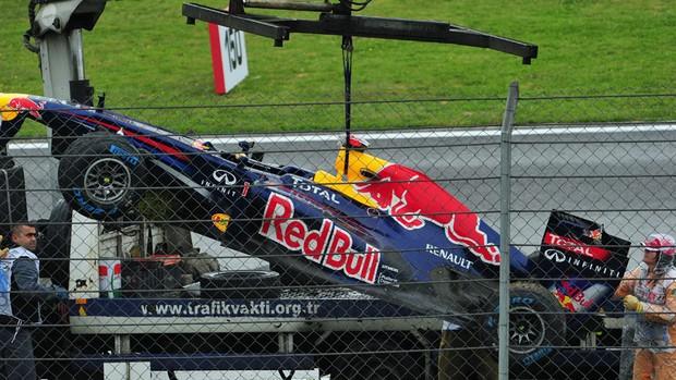 Sebastian Vettel acidente forte treino livre GP da Turquia (Foto: AFP)