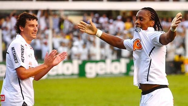 Arouca gol Santos (Foto: Marcos Ribolli / Globoesporte.com)