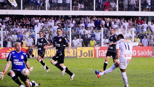 Neymar Santos x Cruzeiro (Foto: Marcos Ribolli / Globoesporte.com)