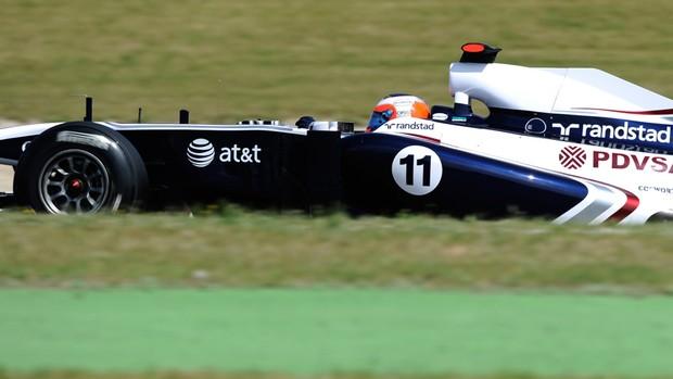 Barrichello pódio GP da Espanha (Foto: AFP)