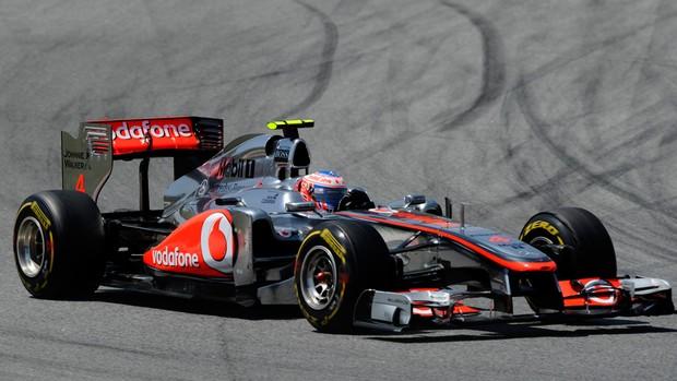 Button GP Espanha (Foto: AFP)