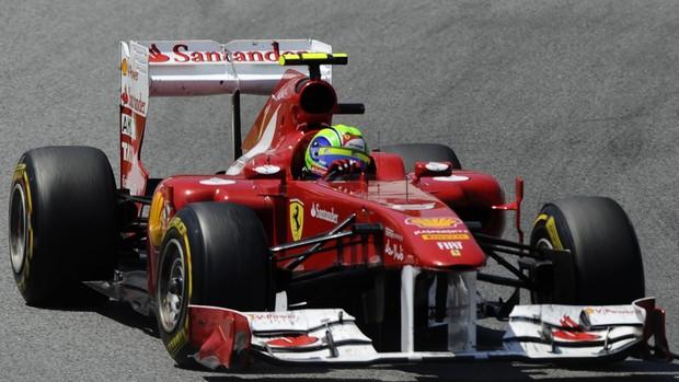 Massa pódio GP da Espanha (Foto: AFP)