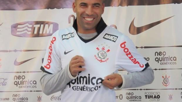 Emerson Sheik Apresentação Corinthians (Foto: Leandro Canônico/GLOBOESPORTE.COM)