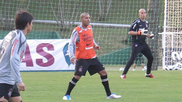 Emerson Sheik treino Corinthians (Foto: Carlos Augusto Ferrari / Globoesporte)