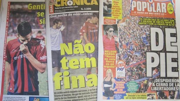 jornais paraguaios lamentam desclassificação do Cerro (Foto: Julyana Travaglia / Globoesporte.com)