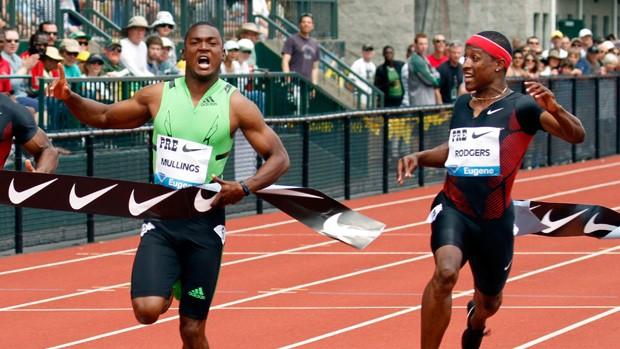 Steve Mullings  Michael Rodgers atletismo (Foto: ap)