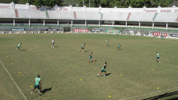 fluminense treino físico (Foto: Edgard Maciel de Sá / Globoesporte.com)
