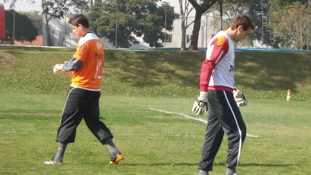 Renan Rocha e Márcio, os goleiros do Atlético-PR (Foto: Fernando Freire / Globoesporte.com)