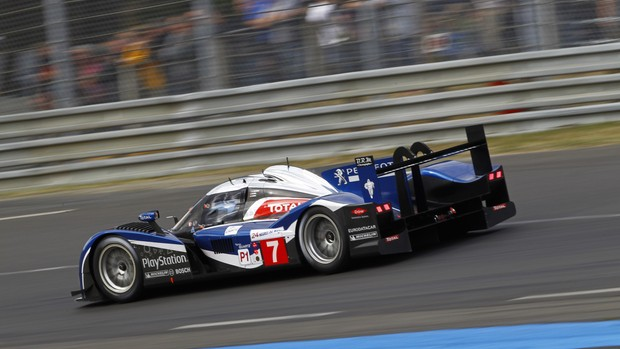 24h de Le Mans: carro de Davidson, Gene e Wurz na Peugeot Sport Total (Foto: Peugeot-Media)