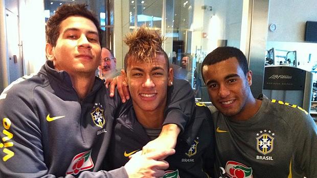 Ganso Neymar Lucas Seleção Twitter (Foto: Divulgação)