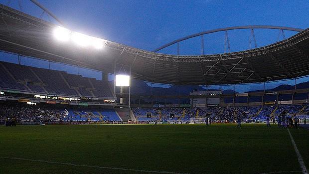 Estádio Engenhão sem luz (Foto: Wagner Meier / Agência Estadoen)