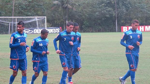 Quem enfrentou o Atlético-MG fez apenas um treino regenerativo (Foto: Richard Souza/Globoesporte.com)