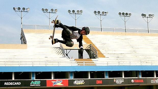 Mitchie na Megarampa de skate (Foto: Roberto Tatto / Globoesporte.com)