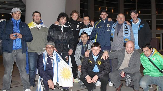 Lugano com os amigos (Foto: João Garschagen / Globoesporte.com)