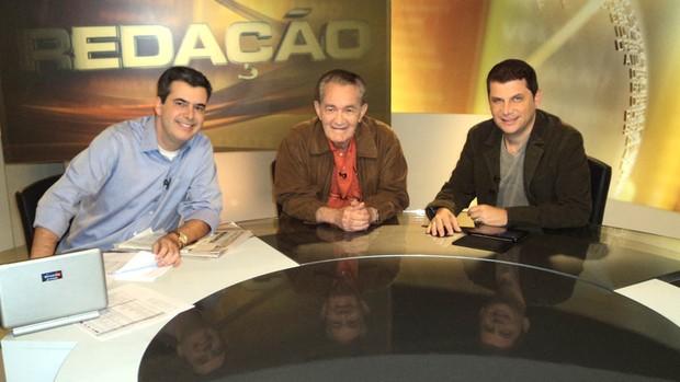 Rogério Corrêa Léo Batista José Ilan Redação SporTV (Foto: Renato Sousa / SporTV.com)