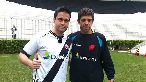 Torcedor Vasco vídeo Juninho (Foto: Thiago Correia / Globoesporte.com)