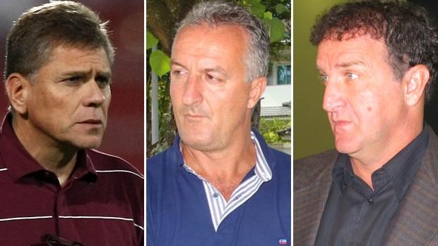 Paulo Autuori, Dorival Júnior e Cuca (Foto: Montagem sobre foto do Globoesporte.com)