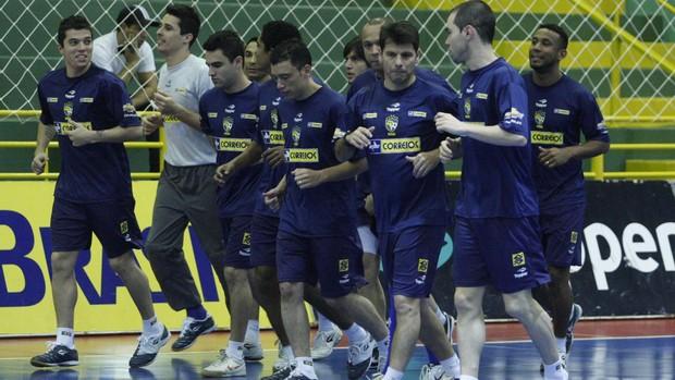 seleção brasileira de futsal treino (Foto: Beto Costa/CBFS)