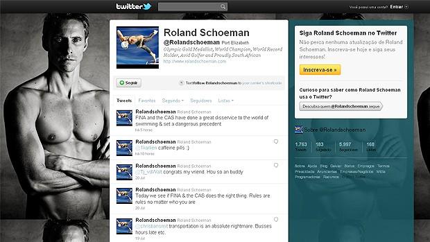 Roland Schoeman natação twitter (Foto: Reprodução/Twitter)