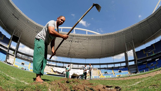 Engenhão passa por reforma (Foto: André Durão / Globoesporte.com)