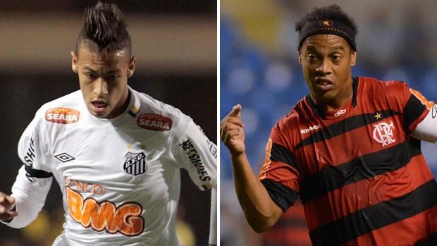 Neymar Santos Ronaldinho Flamengo (Foto: Montagem sobre foto da VIPCOMM)