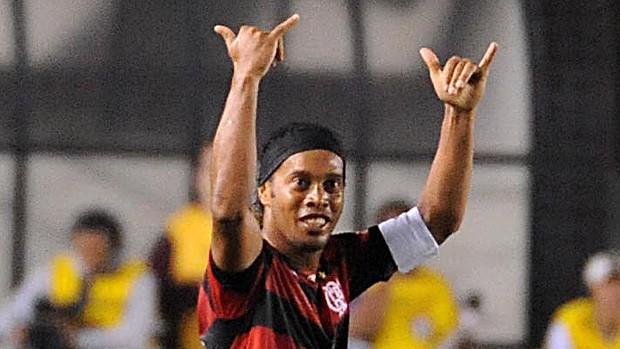 Ronaldinho Gaúcho gol Flamengo (Foto: Alexandre Vidal / Fla imagem)