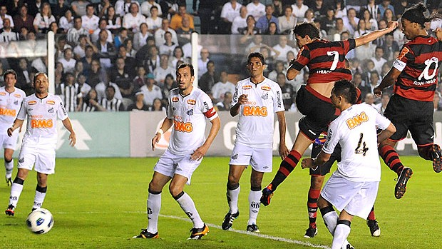 Thiago Neves no jogo do Flamengo contra o Santos (Foto: Alexandre Vidal / FlaImagem)