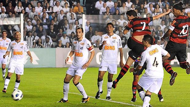 Thiago Neves no jogo do Flamengo contra o Santos (Foto: Alexandre Vidal / FlaImagem)