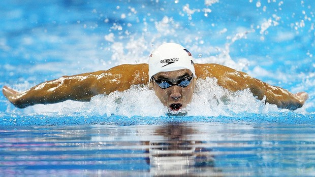 Michael Phelps 100m borboleta Mundial de Xangai (Foto: Getty Images)