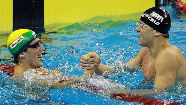 bruno fratus cesar cielo mundial de natação 100m livre (Foto: Satiro Sodré / AGIF)