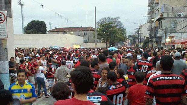 ambiente flamengo x grêmio (Foto: Globoesporte.com)