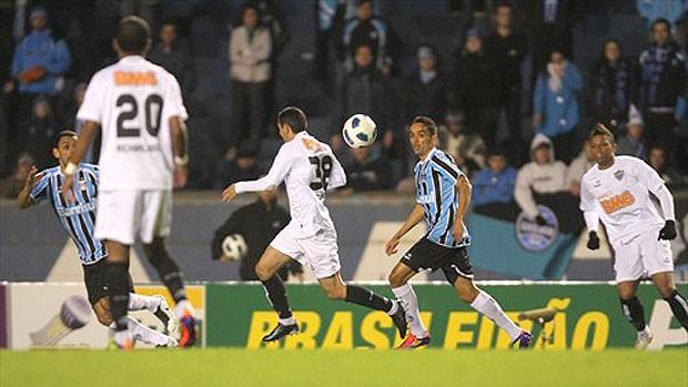 Lucio do Grêmio no jogo contra o Atlético-MG (Foto: Lucas Uebel / Site Oficial do Grêmio)