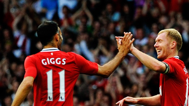 scholes giggs manchester united x new york cosmos (Foto: Reuters)