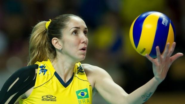 thaisa saque vôlei brasil grand prix (Foto: Getty Images)