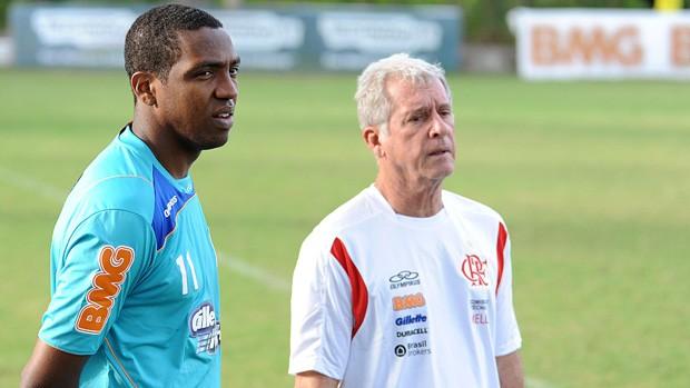 Renato Abreu e Antonio Mello no treino do Flamengo (Foto: Alexandre Vidal/Fla Imagem)