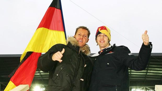 Vettel Schumacher carreira (Foto: Getty Images)