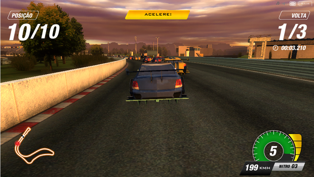 Stock Car: carro acelera no novo game da categoria (Foto: Reprodução)