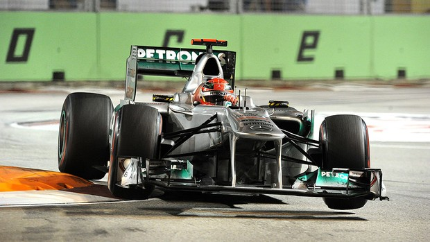 Schumacher no GP de Cingapura (Foto: AFP)