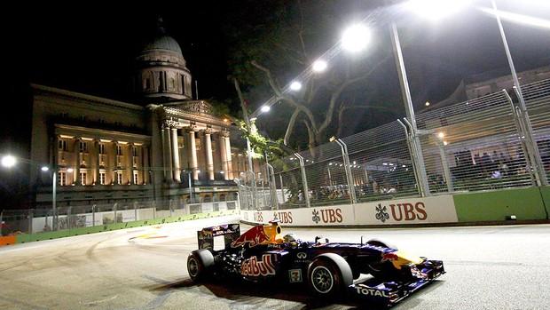 Vettel no GP de Cingapura (Foto: EFE)