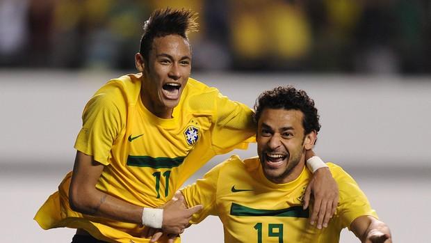 Neymar dedica o gol ao filho e agradece torcida paraense (AFP)