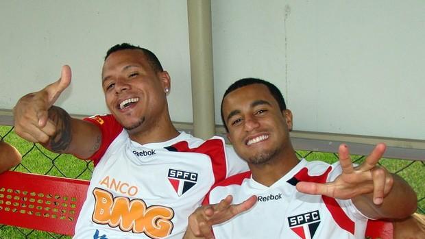 Luis Fabiano Lucas São Paulo (Foto: Site oficial do São Paulo)