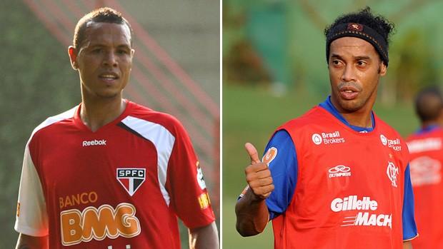 Luis Fabiano São Paulo Ronaldinho Flamengo (Foto: VIPCOMM)
