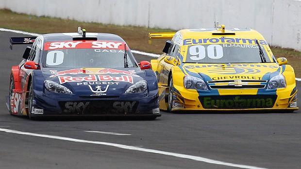 Cacá Bueno Ricardo Maurício Stock Car Londrina (Foto: Carsten Horst)