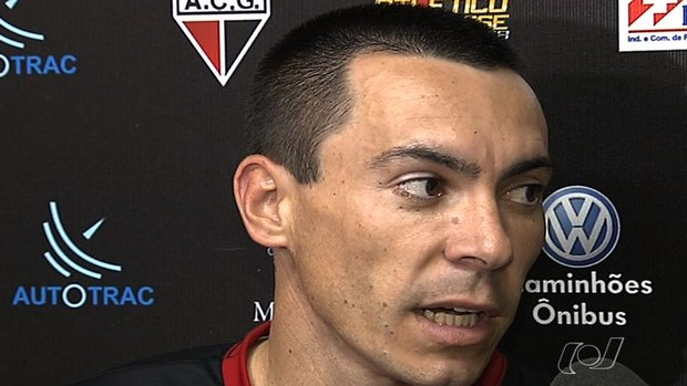 Felipe, atacante do Atlético-GO (Foto: Reprodução/TV Anhanguera)