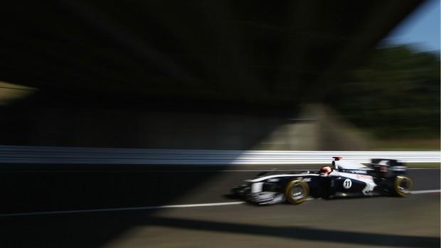 Barrichello no GP do Japão (Foto: Getty Images)